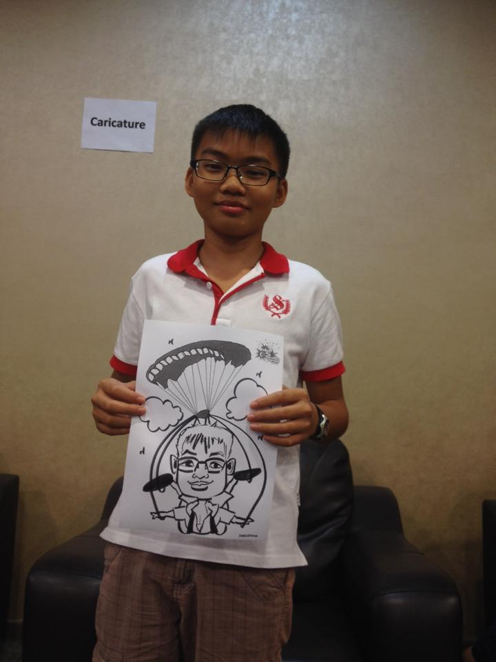 Caricatures for national day celebration in Singapore #SG50