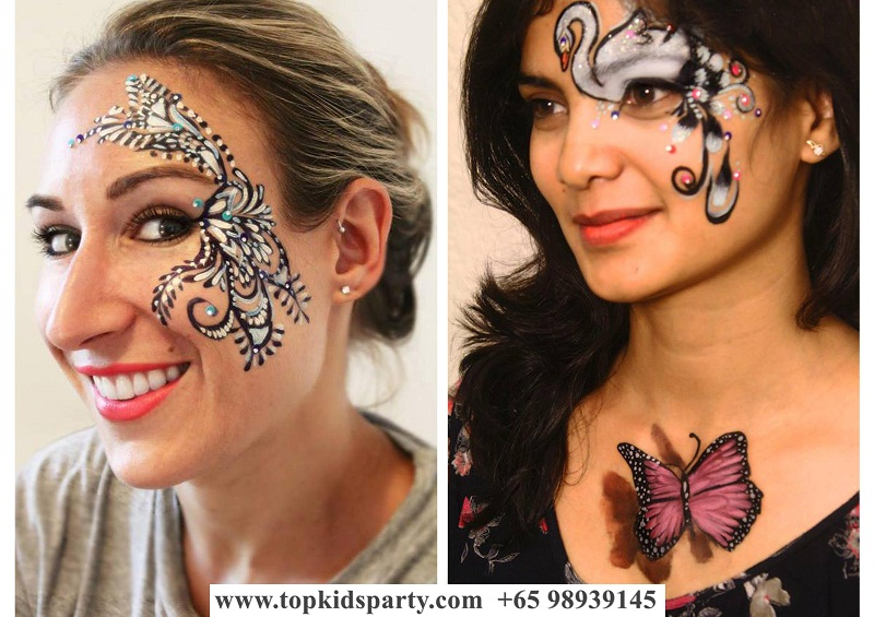 Women Face Painting
